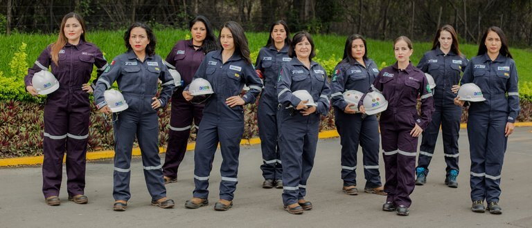 Stoic photo of female AES employees